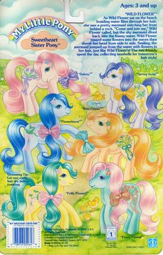 My Little Pony Sweetheart Sister Backcard