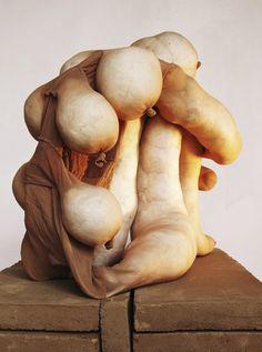 Sarah Lucas - An article… Land Art, Soft Sculpture, Abstract Sculpture, Textiles, Lucas Y Sara, Art Textile, Art Object, Installation Art, Fiber Art