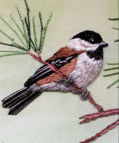 Bird, peinture à l'aiguille