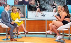 """Bryony Gordon and model Jada Sezer bravely sport lingerie on GMB -  The journalist and the plus-size model are preparing to run the London Marathon on Sunday sporting just their underwear to promote body confidence  Activist Bryony 37 is raising money for mental health charity Minds Together following her candid 2016 memoir about her own mental health battle  Jada previously said: 'I was never a runner.. but when I knew Bryony had run the marathon before I thought: """"Wow I'd love to do it""""…"""