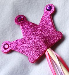 Beautiful Fairy Wand, Princess Wand, Magic Wand, ribbons, pretend play. $4.50, via Etsy.