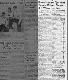 Griggsville Exciting Win Jan 1948