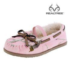 #NEW Realtree Pink Camo Girl's Toddler Flurry Moc   #Realtreecamo