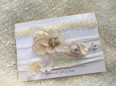 White Baby Wrap Set Ivory Wrap Knit Stretch Wrap Baby Bow