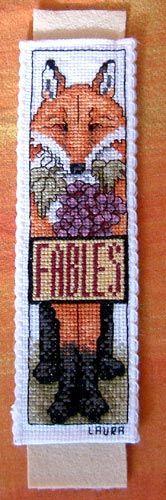 stitched bookmark