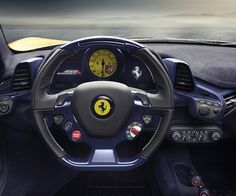 Ferrari 458 Speciale A 2014, Dashboard & Steering Detail. More Images On The Following Link: https://www.carspecwall.com/ferrari/limited-series/458-speciale-a-2014/