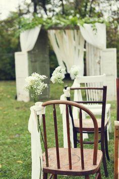 Outdoors Farm Wedding Ceremony