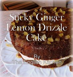 Its Bon Fire Night here in the UK. The night when all over the country people light bonfires and shoot off fireworks to commemora. Baking Cakes, Baking Tins, Baking Recipes, Bonfire Cake, Sticky Ginger Cake, Cake Receipe, Soul Cake, Bon Fire, Lemon Curd Filling