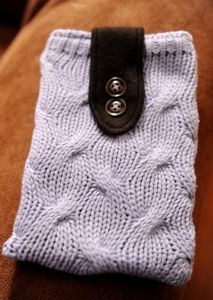 kindle fire case from thrifted sweater