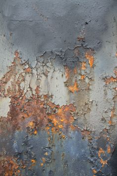 Rust on Steel Bridge Painting Inspiration, Color Inspiration, Art Grunge, Art Texture, Metal Texture, Illustration Mode, Peeling Paint, Beautiful Textures, Textures Patterns