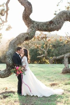 Stunning scenery and one gorgeous couple: http://www.stylemepretty.com/california-weddings/carmel-valley/2016/03/10/elegant-organic-romantic-holman-ranch-inspiration-shoot/ | Photography: Carlie Statsky - http://www.carliestatsky.com/