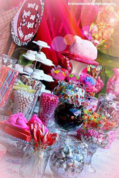 Sweet Sixteen, Pink Candy Buffet, Hello Kitty