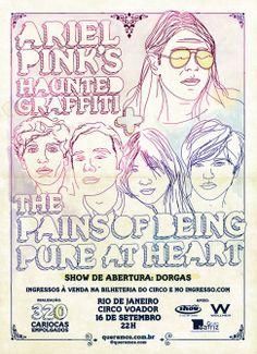 Ariel Pink Haunted Graffiti + The Pains of Being Pure at Heart. Abertura: Dorgas (September 2011)  Art by Rodrigo Curi