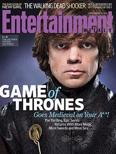 Tyrion Lannister (Peter Dinklage) on the Cover of Entertainment Weekly