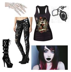 """You threw me a wild card, and I didn't know what I was in for"" by teganself on Polyvore featuring Pleaser, Paige Denim, women's clothing, women, female, woman, misses and juniors"