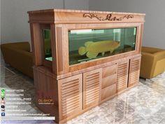 meja aquarium kayu jati