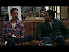 "Troy and Abed write a story. ""...Aliens and mercenaries and war and betrayal and romance and karate and... credits."""