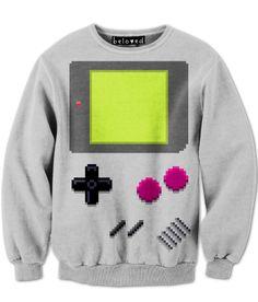 Retro Gameboy sweatshirt and other fun 8-bit designs.