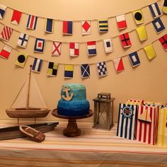 Nautical flags garland on Etsy