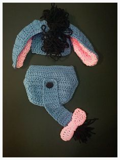 Baby Eeyore Costume by RegalCrochet on Etsy