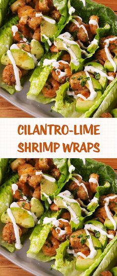 Cilantro-Lime Shrimp Wraps - The ingredients and how to make it please visit the website Lime Shrimp Recipes, Chili Lime Shrimp, Cilantro Lime Shrimp, Lime Recipes, Wrap Recipes, Seafood Recipes, Cooking Recipes, Healthy Foods To Make, Good Healthy Recipes