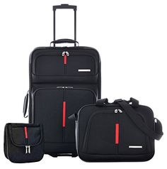 Olympia Manchester CarryOn Travel Set Black One Size *** Want additional info? Click on the image.