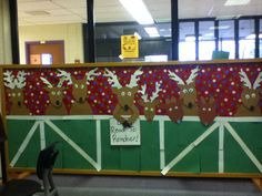 Don't read to reindeer bulletin board spin on don't feed reindeer #library #bulletin_board