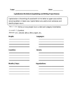 Capitalization and End Punctuation Worksheet | Englishlinx.com Board ...