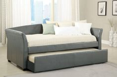 Furniture of America Bed Gray Twin Day, Grey Bedding, Daybed, Mattress, Beds, Gray, Studio, Amazon, Leather