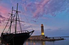 #Rethemnos #Crete #Greece   #ship #sunset