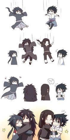 Itachi, Sasuke, Madara, izuna~hanyuu