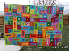 Pictures of scrap quilts made by members quilters from around the world. Discover ideas for your next scrappy quilting project.: Bricks & Stepping Stones Scrap Quilt