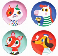 from coos & ahhs: Pretty Plates by Helen Dardik