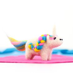 Create your own magical needle felted unicorn with our mini unicorn needle felting kit. With the beautiful wool and step by step instructions, you'll be able to master this fun and addictive craft with ease.  All of our kits are fantastic gifts, either for yourself or for crafty