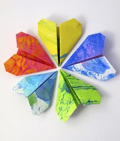 """Origami Heart Cards from Artful Adventures ("""",) Fun Crafts, Diy And Crafts, Crafts For Kids, Arts And Crafts, Jar Of Hearts, Origami Paper Art, Origami Heart, Heart Cards, Valentines Day"""