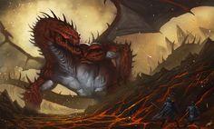 Magma Dragon, por Isra en Criaturas | Dibujando.net  #temática-general #fantasía #otro #digital #pintura-color