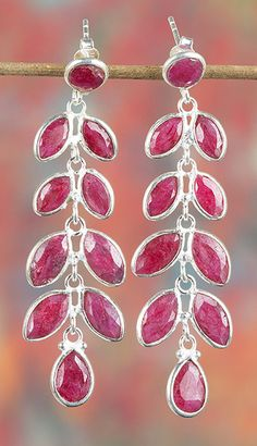 Ruby Jewellery – Solid Red Silver Natural Ruby Earring BJE-347-RU – a unique…