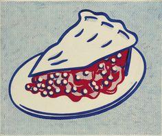 Roy Lichtenstein (American, 1923-1997), Cherry Pie, 1962. Oil and graphite on canvas, 51.1 x 61 cm.