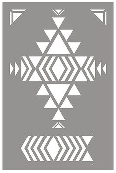 Above - shows the layout of the stencil sheet of the Small Navajo Firecreek Stencil. Stencils, Stencil Templates, Stencil Patterns, Tribal Patterns, Hand Embroidery Patterns, Stencil Designs, Beading Patterns, Quilt Patterns, Motif Navajo