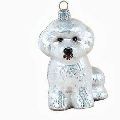Ornaments To Remember Bichon Frise (White) Hand-Blown Glass Ornament