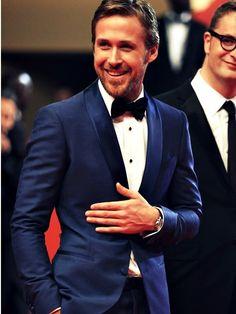 beats, this man, ryan gosling, fashion, blue tux, bow ties, suit, groom, black