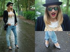 Tapered jeans, Spektre Sunnies and a hat (by Anouk Lannoo) http://lookbook.nu/look/3778733-Tapered-jeans-Spektre-Sunnies-and-a-hat