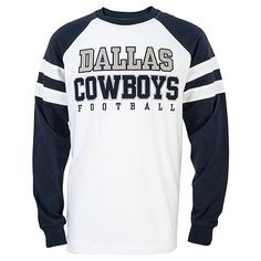 Dallas Cowboys Power Hit Fashion Long Sleeve Tee Dallas Cowboys Outfits 02715be55