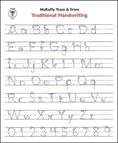 Free Printable Alphabet Writing Worksheets For Kindergarten #1