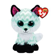5f14727d951f36 TY Beanie Boo Small Piper the Chevron Fox Plush Toy White Dogs, Pink Owl,