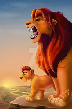 The Lion King by otter-popps on DeviantArt Simba and Kion - The Lion King by