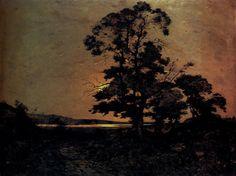 Henri-Joseph Harpignies - Moonlight on the Loire.  Domitor Invictus