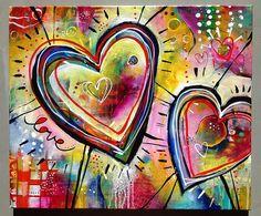 Huacan Full Square Drill Diamond Mosaic Cartoon Picture Of Rhinestones Diamond Painting Heart Pattern Diamond Embroidery Sale Kunstjournal Inspiration, Art Journal Inspiration, Art Fantaisiste, Valentines Art, Printable Valentine, Homemade Valentines, Valentine Wreath, Valentine Ideas, Heart Painting
