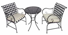 3 Pc Bistro Cushion Set Outdoor Garden Pool Patio Dining Table Chairs Furniture  #CKHome #ContemporaryModern