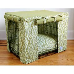 How cute, my dog has a crate he actually likes and goes to on his own. I could make this for him